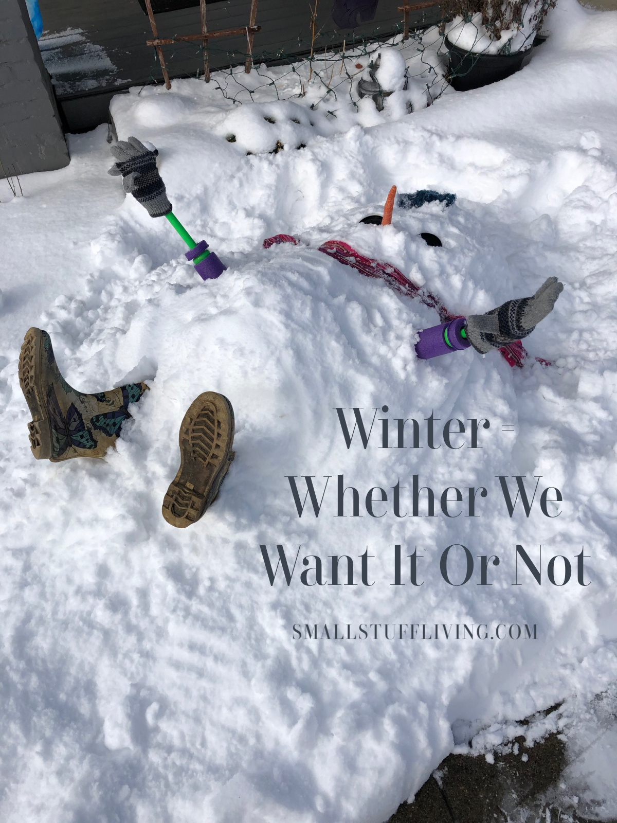 Winter and a Helping Hand – Whether We Want It Or Not